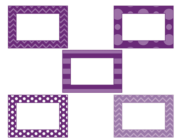 Midnight Orchid Paisley Mini Multipurpose Labels