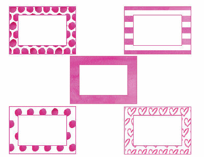 Flamingo Watercolor - Mini Multipurpose Labels