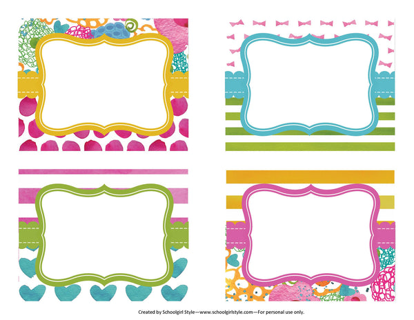 Flamingo Watercolor - Multipurpose Labels