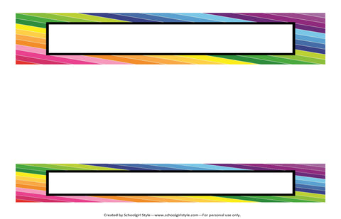 Happy Rainbow Binder Spines {UPRINT}