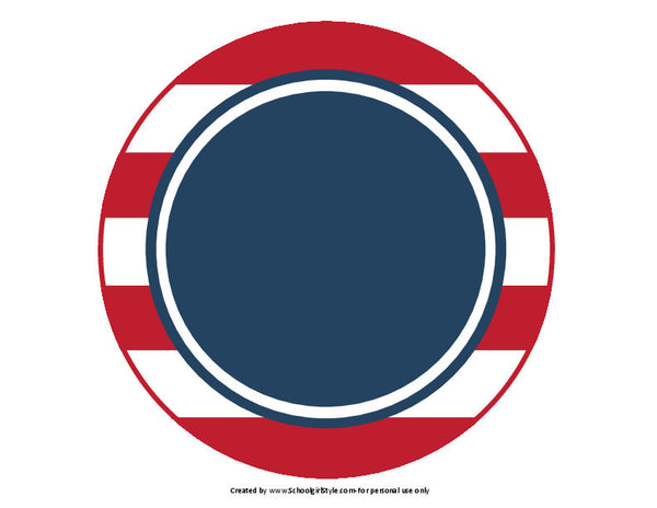 Preppy Nautical Red and Navy Blue Table/Center Signs