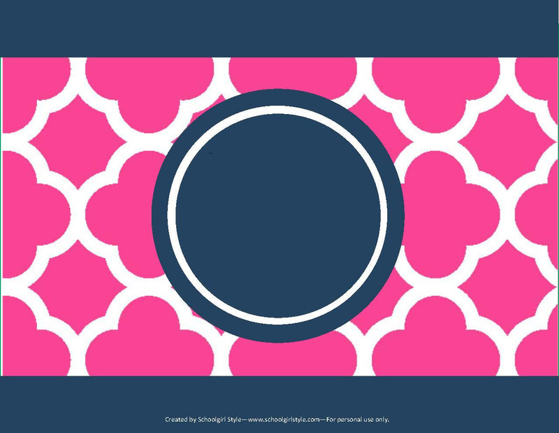 Preppy Nautical Hot Pink and Navy Blue Can Covers {UPRINT}