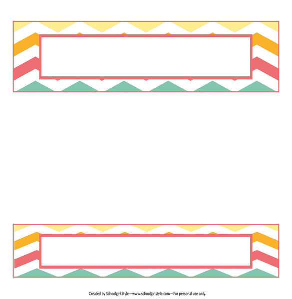 Hello! Sunshine Coral Binder Spines {UPRINT}