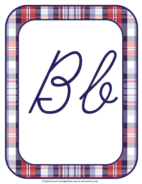 County Fair Alphabet Letters - Cursive