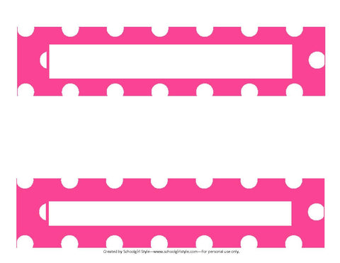 Preppy Nautical Hot Pink and Navy Blue Binder Spines