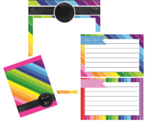 Happy Rainbow Stationary Set