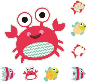 By The Sea Cut Outs - Crabs & Fish
