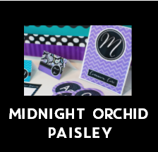 Midnight Orchid Paisley - Full Collection {UPRINT}