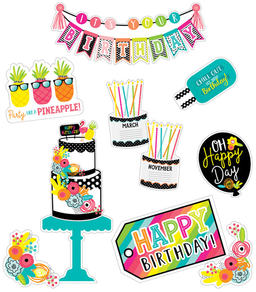 Simply Stylish Tropical Birthday Bulletin Board