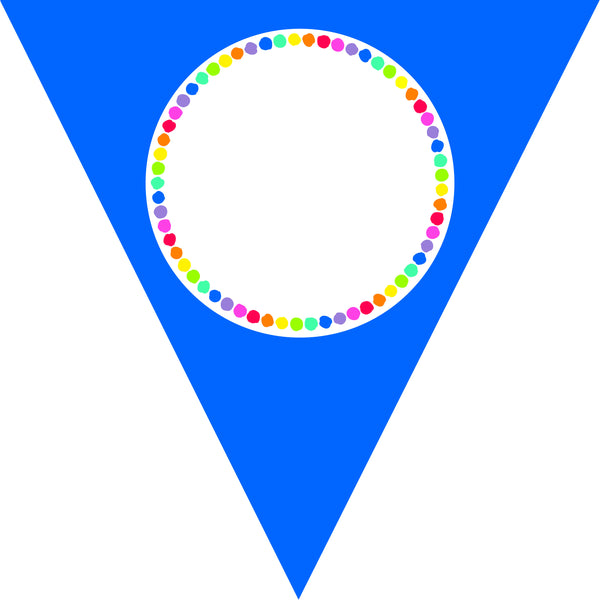 Just Teach - Rainbow Pennants (Editable)