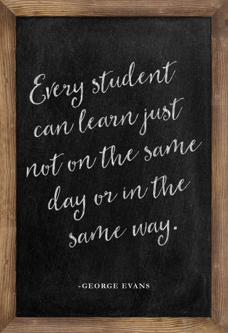 Schoolgirl Style - Industrial Chic Inspirational Posters Chalkboard {UPRINT}