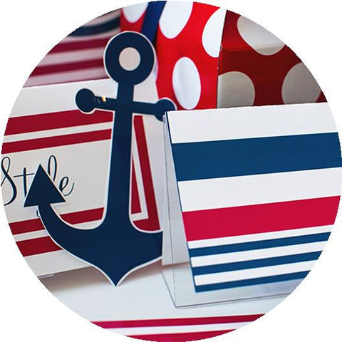 Preppy Nautical Red and Navy Blue - Full Collection