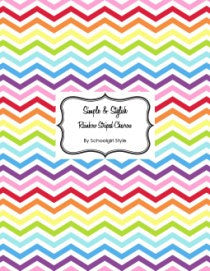 Chevron Chic - Rainbow Brite Stripe