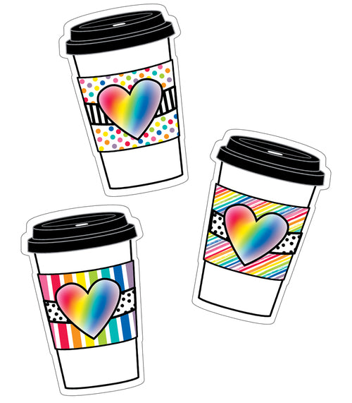 Industrial Cafe Rainbow To-Go Cups Cut-Outs {U PRINT}
