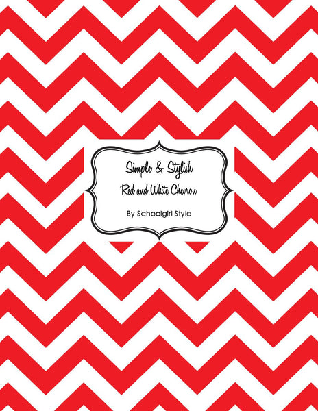 Chevron Chic - Red