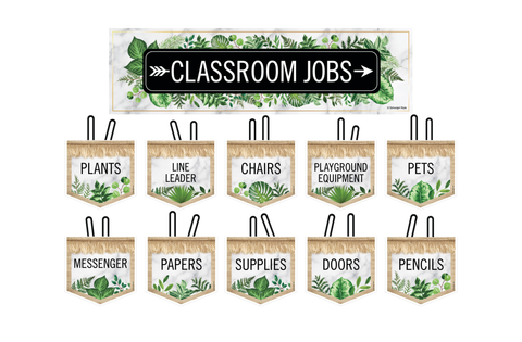 Simply Boho Classroom Jobs Mini Bulletin Board Set