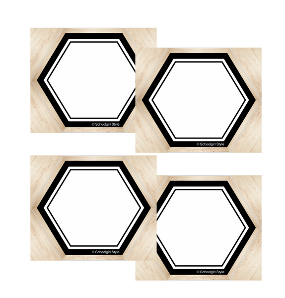 Simply Boho Hexagon Name Tags