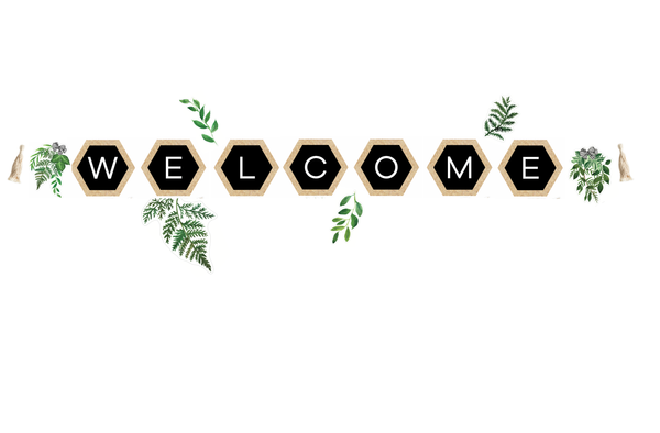 Simply Boho Hexagonal Welcome Banner