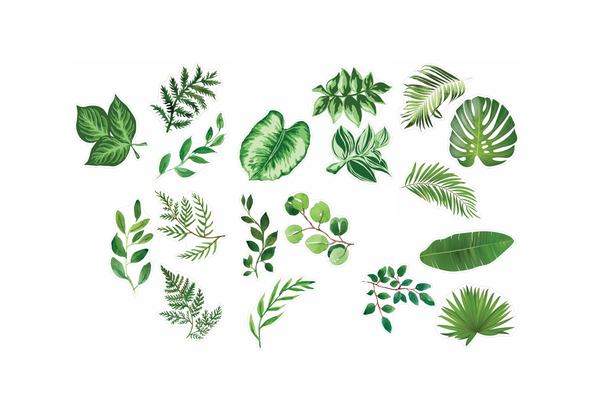 Simply Boho Greenery  Cut-Outs {UPRINT}