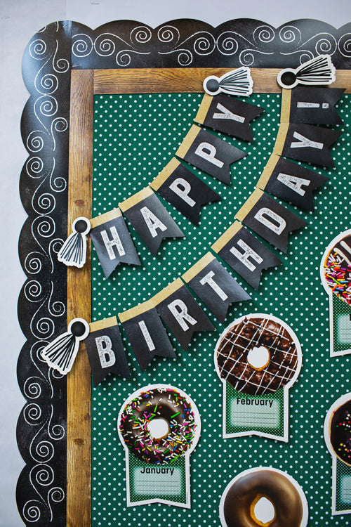 Schoolgirl Style - Industrial Café Birthday Bulletin Board Set