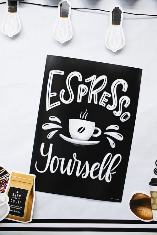 Schoolgirl Style - Industrial Cafe 'Espresso Yourself' Poster
