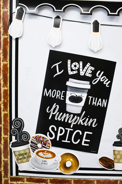 Industrial Cafe 'I love you more than Pumpkin Spice' Poster