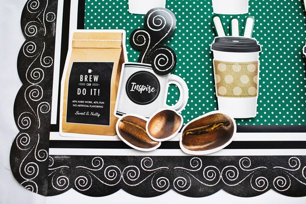 Industrial Cafe Inspirational Coffee Mugs Cut-Outs {U PRINT}