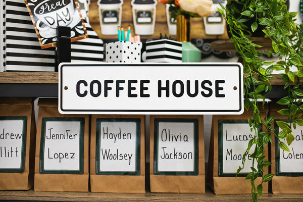 Industrial Cafe Name Tags {U PRINT}