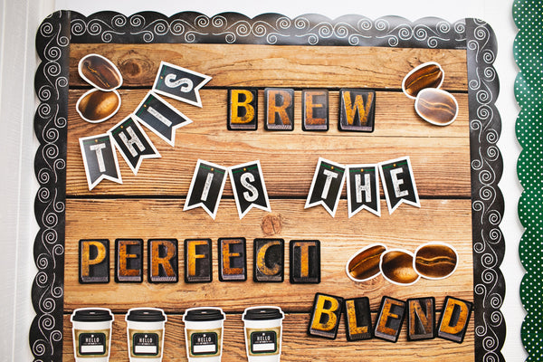Industrial Cafe 'This Brew is the Perfect Blend' Bulletin Board Set {U PRINT}