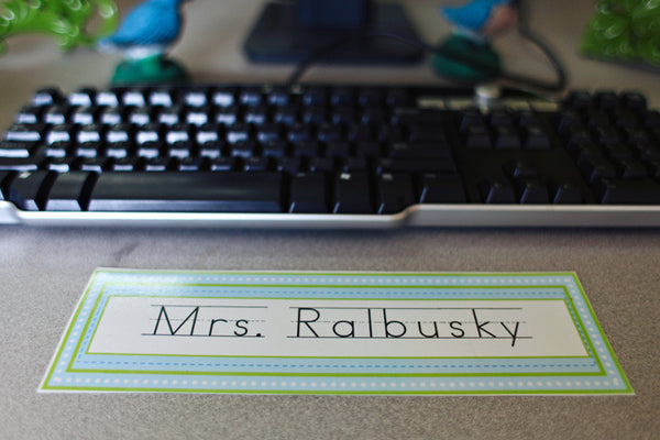 Sweet Blue Bird Nameplate {UPRINT}