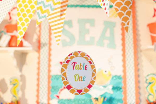 By The Sea - Table/Center Signs