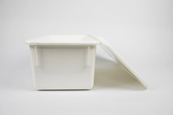 {Marshmallow White} Storage Bin