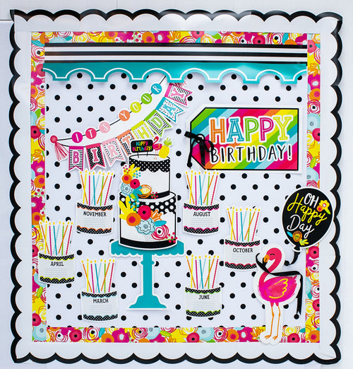 Schoolgirl Style - Simply Stylish Tropical Pineapple Birthday Bulletin Board Set