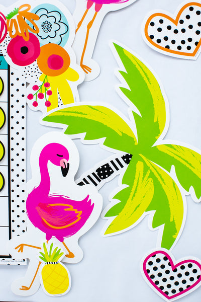 Simply Stylish Tropical Flamingo Cut-Outs {U PRINT}