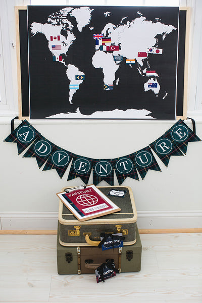 World Traveler Banner Letters {UPRINT}