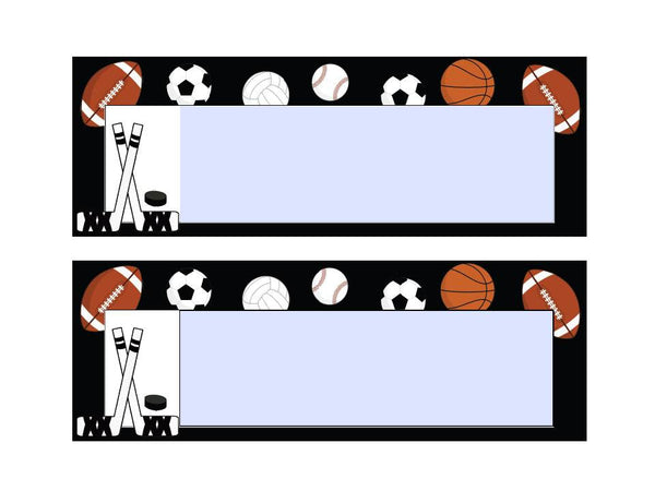 Totally Teamwork Nameplates - Sports Theme {UPRINT}