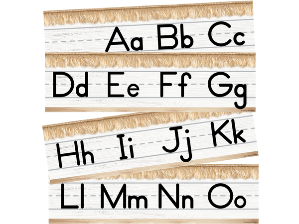 Schoolgirl Style - Simply Stylish Boho Rainbow Alphabet Line: Manuscript Mini Bulletin Board Set