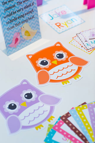 Bright Owls Scalloped Cut Outs