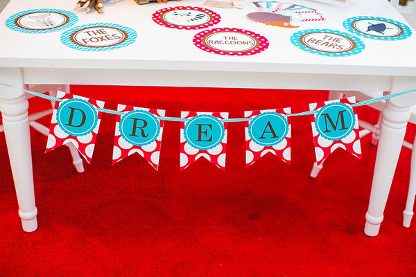 Woodland Animals Banner Letters {UPRINT}