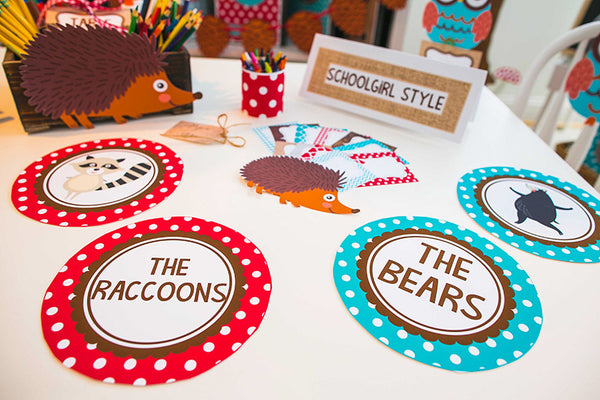 Woodland Animals Table/Center Signs {UPRINT}