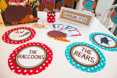 Woodland Animals Table/Center Signs