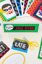 Superhero Nameplates {UPRINT}
