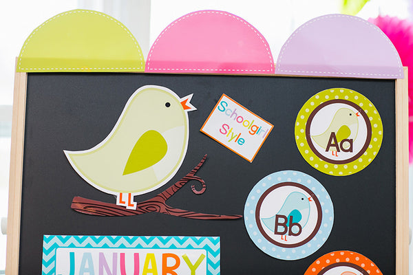 Bright Birds Word Wall Labels