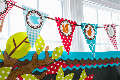 Woodland Animals Fun Pennants