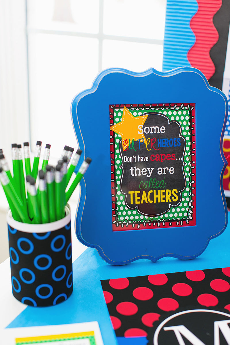 Superhero Classroom Art {UPRINT}