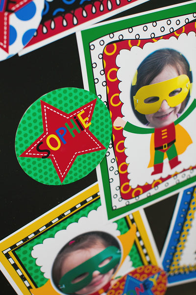 Superhero Star Name Tags