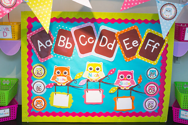 Bright Alphabet Letters - Penmanship {UPRINT}