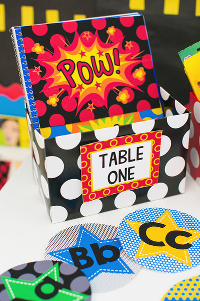 Superhero Mini Multipurpose Labels