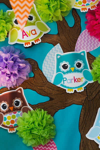 Bright Owl Editable Cut Outs {UPRINT}