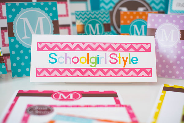 Bright Chevron Nameplates {UPRINT}